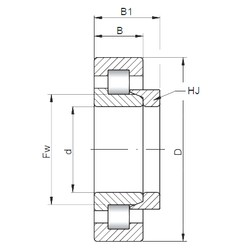 17 mm x 40 mm x 12 mm  ISO NH203 cylindrical roller bearings