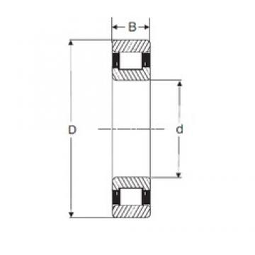 90 mm x 190 mm x 43 mm  SIGMA N 318 cylindrical roller bearings