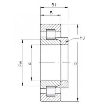 90 mm x 190 mm x 43 mm  ISO NH318 cylindrical roller bearings