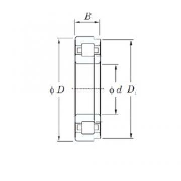 90 mm x 190 mm x 43 mm  KOYO NUP318R cylindrical roller bearings