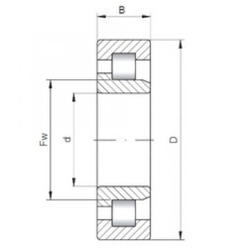 190 mm x 400 mm x 132 mm  ISO NJ2338 cylindrical roller bearings