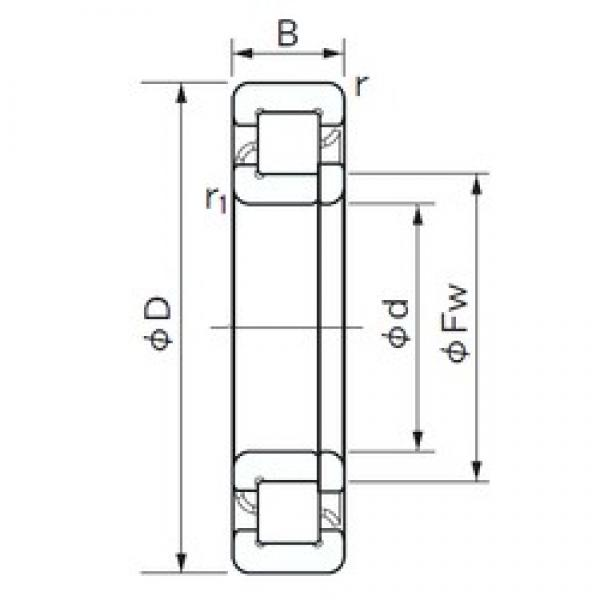 110 mm x 240 mm x 50 mm  NACHI NUP 322 cylindrical roller bearings #1 image